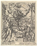 An Allegory of a Rich Man and a Poor Man (Der Lustige Arme und der Traurige Reiche)