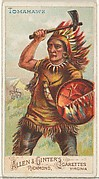 Tomahawk, from the Arms of All Nations series (N3) for Allen & Ginter Cigarettes Brands