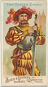 Two-handed Sword, from the Arms of All Nations series (N3) for Allen & Ginter Cigarettes Brands