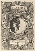 """""""Bacchi"""" (from Four Plates frorm Ortelius, Deorum...)"""