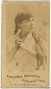 Card 431, Viola Allen, from the Actors and Actresses series (N45, Type 1) for Virginia Brights Cigarettes