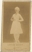 Loraine Badger, from the Actors and Actresses series (N45, Type 1) for Virginia Brights Cigarettes