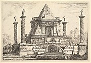 Imaginary Architecture with Camel and Figures, after Della Bella
