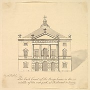 Elevation of Back Facade of the Kings House, Richmond, Surrey