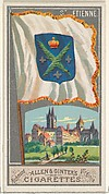 St. Etienne, from the City Flags series (N6) for Allen & Ginter Cigarettes Brands