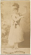 Card 533, Miss Behr, from the Actors and Actresses series (N45, Type 1) for Virginia Brights Cigarettes