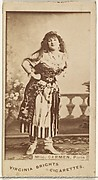 Mlle. Carmen, Paris, from the Actors and Actresses series (N45, Type 1) for Virginia Brights Cigarettes