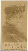 Card 482, Leslie Chester, from the Actors and Actresses series (N45, Type 1) for Virginia Brights Cigarettes