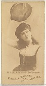 Mlle. Adelaid Emerson, from the Actors and Actresses series (N45, Type 1) for Virginia Brights Cigarettes