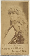 Card 419, Miss Greenville, from the Actors and Actresses series (N45, Type 1) for Virginia Brights Cigarettes
