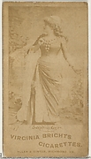 Card 277, Sophie Gyre, from the Actors and Actresses series (N45, Type 1) for Virginia Brights Cigarettes