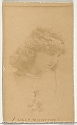 Lilly McIntyre, from the Actors and Actresses series (N45, Type 1) for Virginia Brights Cigarettes