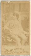 Card 496, from the Actors and Actresses series (N45, Type 1) for Virginia Brights Cigarettes