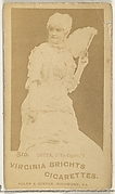 """Card 310, Lotta, """"La Cigale,"""" from the Actors and Actresses series (N45, Type 1) for Virginia Brights Cigarettes"""