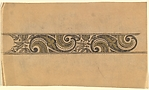 Horizontal Frieze with Pattern of Alternating S-Scrolls and Decorative Plants