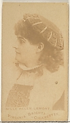 Mlle. Helen Lamont, from the Actors and Actresses series (N45, Type 1) for Virginia Brights Cigarettes