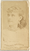 Card 478, Miss Pomeroy, from the Actors and Actresses series (N45, Type 1) for Virginia Brights Cigarettes