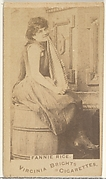 Fanny Rice, from the Actors and Actresses series (N45, Type 1) for Virginia Brights Cigarettes