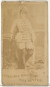 Card 447, Dana Willy, from the Actors and Actresses series (N45, Type 1) for Virginia Brights Cigarettes
