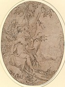 Diana and a Leering Satyr in a Forest