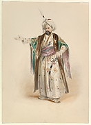 """Costume Study for Bassa Selim in the """"Abduction from the Seraglio"""" by W.A. Mozart"""