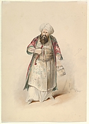 """Costume Study for Osmin in the """"Abduction from the Seraglio"""" by W.A. Mozart"""