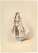 """Costume Study for Blonde in the """"Abduction from the Seraglio"""" by W.A. Mozart"""
