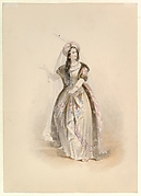 """Costume Study for Konstanze in the """"Abduction from the Seraglio"""" by W.A. Mozart"""