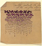 Panel with Rows of Purple Clouds with Rain Below