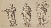 Sculpture Designs for Saint Peter, Saint Paul, and the Angel of Death