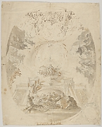 Design for a ceiling fresco with scenes from the life of Saint Barbara