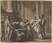 Scene from Roman History, depicting a Youth receiving Armor from a Dying Man (Scipio Africanus and His Son?)
