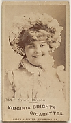 Card 344, Gracie Wilson, from the Actors and Actresses series (N45, Type 1) for Virginia Brights Cigarettes