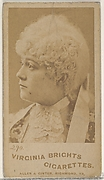 Card 290, from the Actors and Actresses series (N45, Type 4) for Virginia Brights Cigarettes