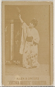 Card 56, from the Actors and Actresses series (N45, Type 5) for Virginia Brights Cigarettes