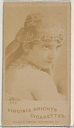 Card 325, from the Actors and Actresses series (N45, Type 5) for Virginia Brights Cigarettes