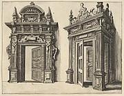 Two Wooden Portals from 'Verscheyden Schrynwerck (...)' ['Plusieurs Menuiseries (...)']