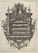 Wall-mounted Shelf Unit from 'Verscheyden Schrynwerck (...)' ['Plusieurs Menuiseries (...)']
