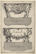 Designs for Two Commodes , from 'Livre de differents dessein de Comodes'