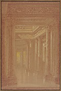Design for a Hall Way with Corinthian Pillars