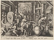 The Production of Olive Oil [Oleum Olivarum], plate 12 from Nova Reperta