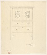 "Outline Drawing of ""Sassafras Linen Press"""