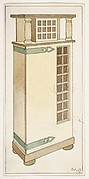 Wooden Cupboard with Green Hinges for The Living Room and the Hall (The Ladies' Home Journal, XIX, March 1902)