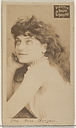 Card 704, Miss Morgan, from the Actors and Actresses series (N45, Type 2) for Virginia Brights Cigarettes