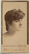 Miss Langdon, from the Actors and Actresses series (N45, Type 3) for Virginia Brights Cigarettes