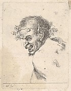 Plate 29: bust of a laughing satyr, facing left in profile, from 'Various portraits' (Recueil de diverses pièces servant à l'art de portraiture)