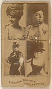 Verona/ Blanche Thornton/ Laura Curtis, Corsair Co./ Fannie Batchelder, from the Actors and Actresses series (N45, Type 4) for Virginia Brights Cigarettes