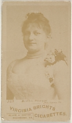 Card 523, Bertha Pierson, American Opera Company, from the Actors and Actresses series (N45, Type 6) for Virginia Brights Cigarettes