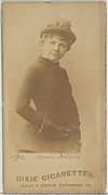 Card 292, Agnes Folsen, from the Actors and Actresses series (N45, Type 7) for Dixie Cigarettes