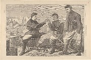 Thanksgiving Day in the Army – After Dinner: The Wish-Bone – Drawn by Winslow Homer (from Harper's Weekly, Vol. VIII)